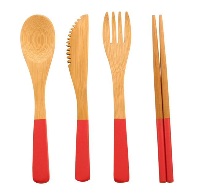 Completely biodegradable Travel Camping Hiking and Picnics fork knife spoon set