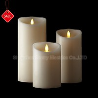 hot sale battery operation flameless moving wick candle led light