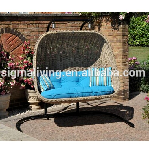 Quality garden furniture patio hanging rattan swing egg chair