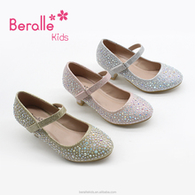 Wholesale Rhinestone Fashion Kids Shoes women girls High Heel Shoes for children