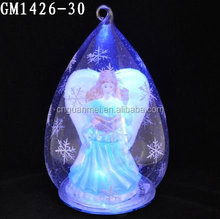 Glass angel figurine light outdoor christmas decor
