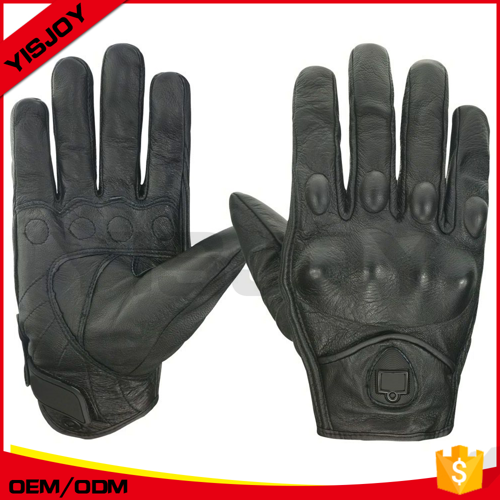 custom leather motorbike gloves/armored motorcycle gloves/sheepskin motorcycle gloves