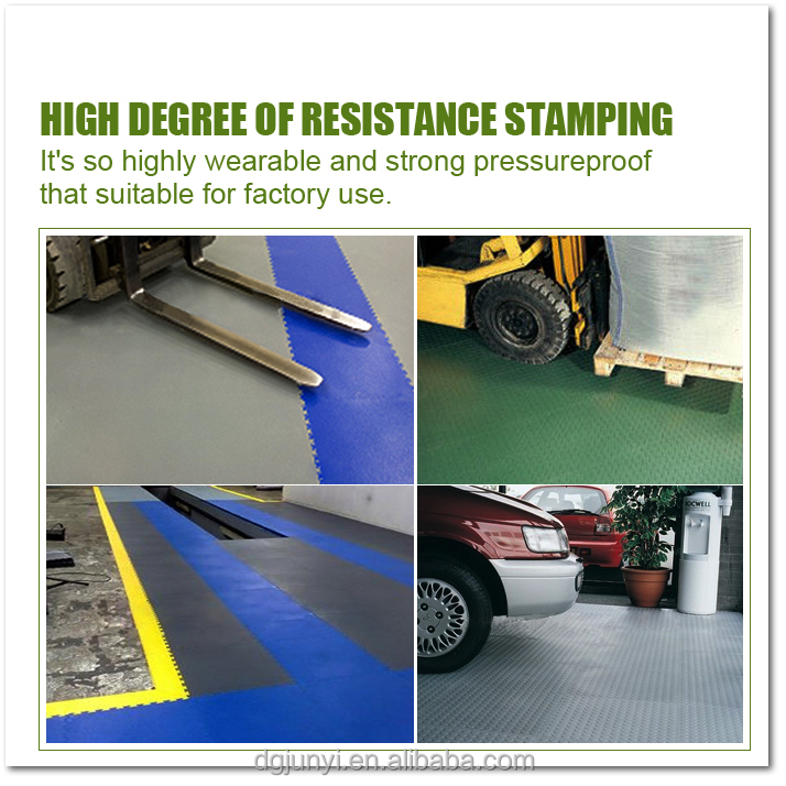 competitive price PVC interlocking garage flooring tiles sample free easy installation