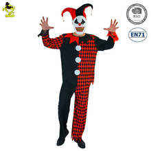 Deluxe karneval party outfits Erwachsene Herren Scary Böse Narr Clown Kleid Up professionelle clown Kostüm
