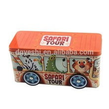 cartoon square cookie tin can
