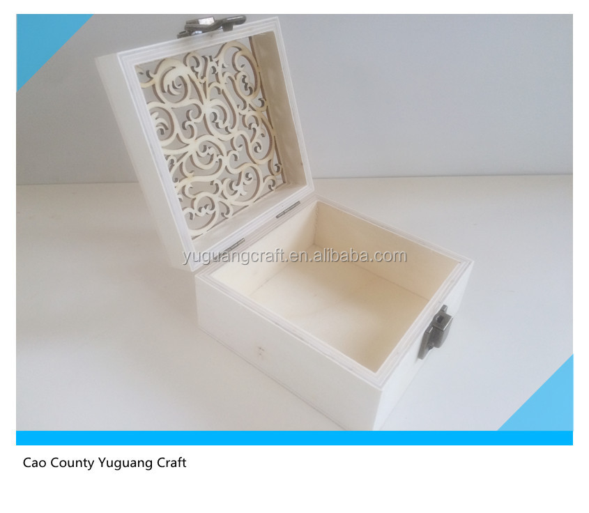 latest wood gift box with laser-engraved lid wholesale