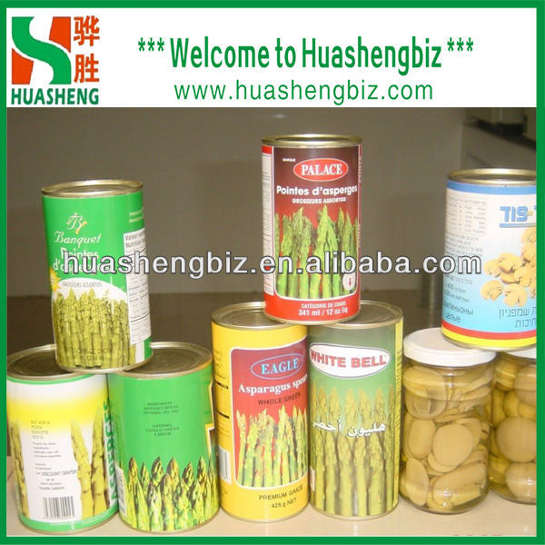 canned green asparagus in tin/can