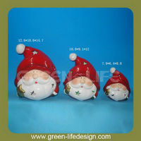Terracotta Santa Claus heads for Christmas