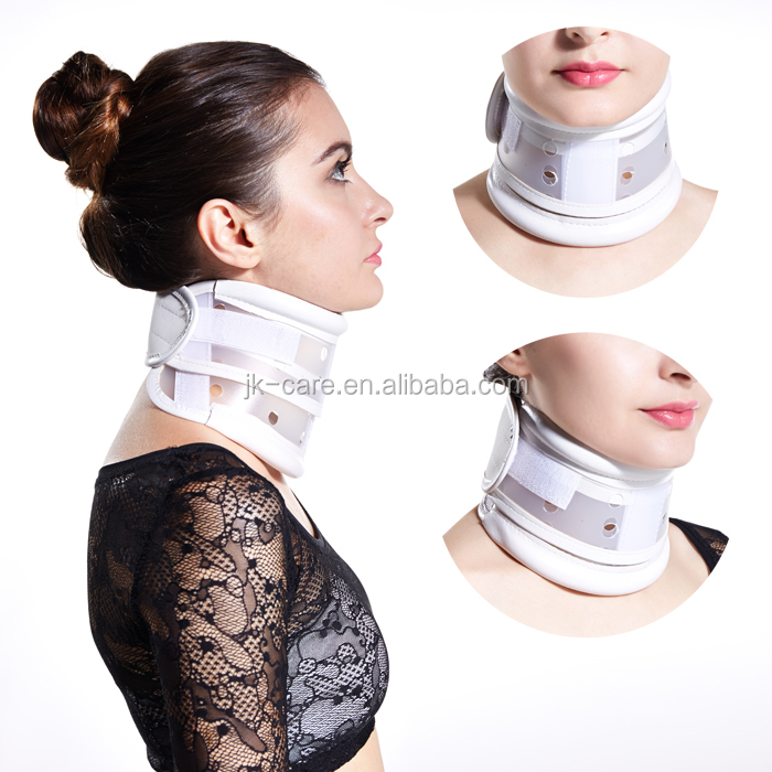 2016 hot sales height adjustable carvical neck collar / plastic neck support / medical cervical neck collar