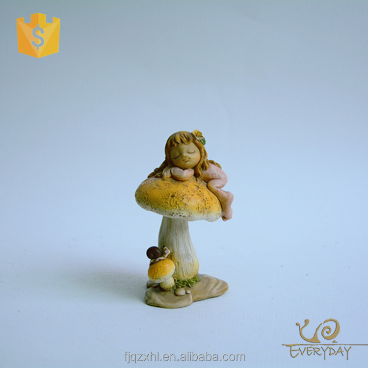 Small Colorful Cute Pretty Resin Fairy Figurine For Table Decoration