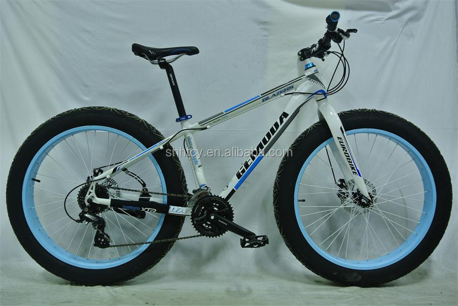 "26"" Alloy 24-Speed Snow Bike, Fat Bicycle, Cycle Wide Tire"