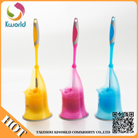 Factory Directly Provide Plastic Toilet Brush,Curved Toilet Brush With Holder