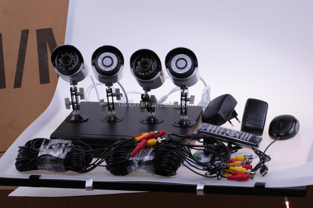 Trade Assurance Supplier Hot-sales 4CH AHD 720p cctv dvr kit H.264 cctv camera Security System