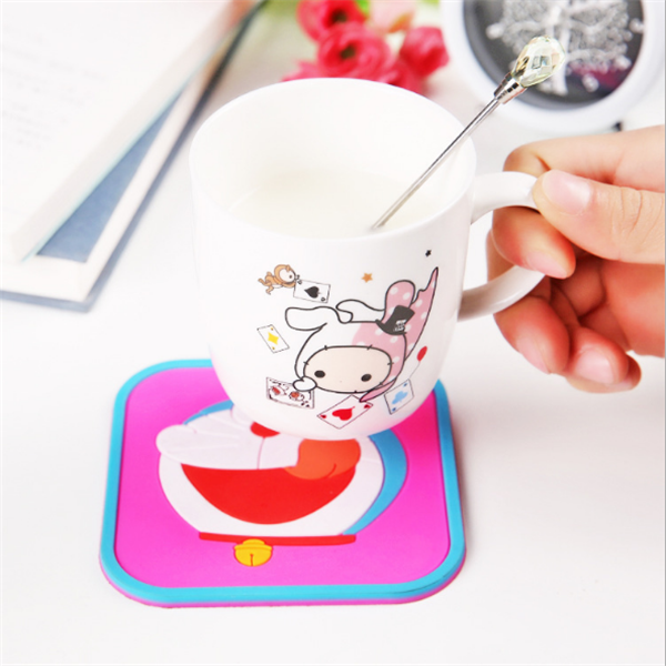 creative table silicone square coaster cup bowl mat/table decoration pads made in China