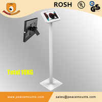 Trending Floor Tablet POS Stand 7-14 Inch Long Stable Arm Free Stand Rotate Tilt Tablet PC Kiosk Holder With Lock