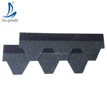 Mosaic style modern roof design Eco-friendly building materials fiberglass base asphalt hexagonal roofing shingles
