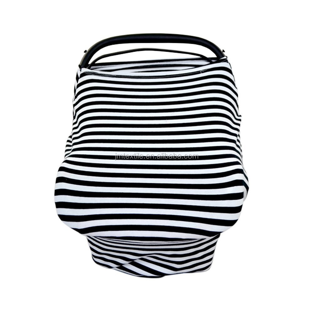 manufacturer Organic Cotton Breathable Nursing Scarf Cover Up Apron for Breastfeeding and Baby Car Seat Cover
