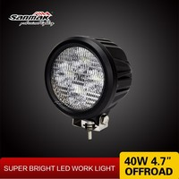 High quality 40w Cree LED 10W flood light for off road SUVcars Round car working spotlight