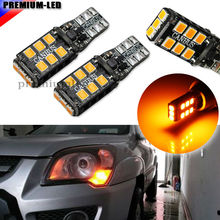 Amber Yellow CANBUS Error Free T10 W5W 194 168 W5W LED Bulbs For Euro Car Parking Position Lights