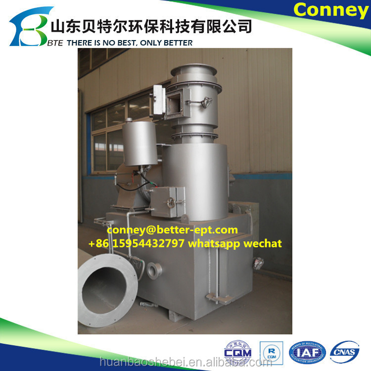 Bio waste incineration machine, plasma gasification, food waste incinerator