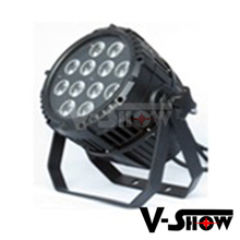Outdoor christmas light 12x15w rgbwa waterproof led par can ip65 led party uplighters for dj or club