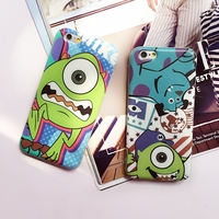TPU Back Cover cases For Iphone 6 6plus 5.5 silicone monster universty cartoon cell phone cases free shipping 2016 CA1282