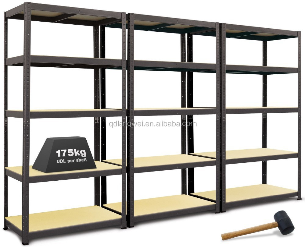 3 Shelving Bays Boltless Garage Warehouse Stockroom Storage Workshop Racking