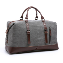 Wholesale custom low moq vintage canvas PU leather trim tote shoulder <strong>bag</strong> mens weekend duffel travel <strong>bags</strong>