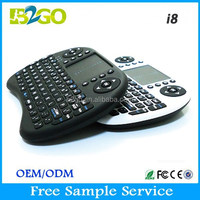 China top ten hot selling Handed design wireless keyboard i8 with mouse touch pad for smart tv touchpad keyboard