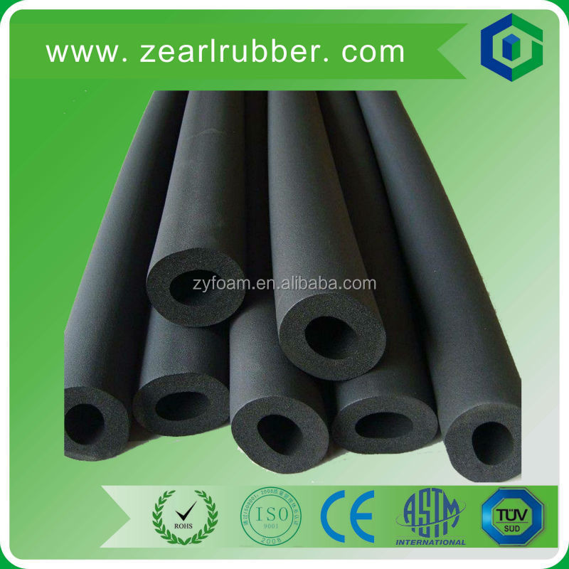 Flexible soft NBR/nitrile rubber foam tube 3/8 TK insulation pipe with print