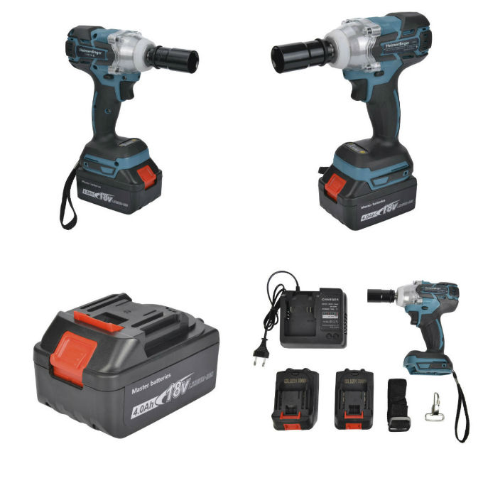 Rechargeable Electric Brushless Impact Cordless Wrench for Concrete and Steel