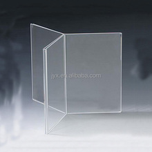 Desktop rotatable 3d acrylic menu holder with customer's OEM ODM design