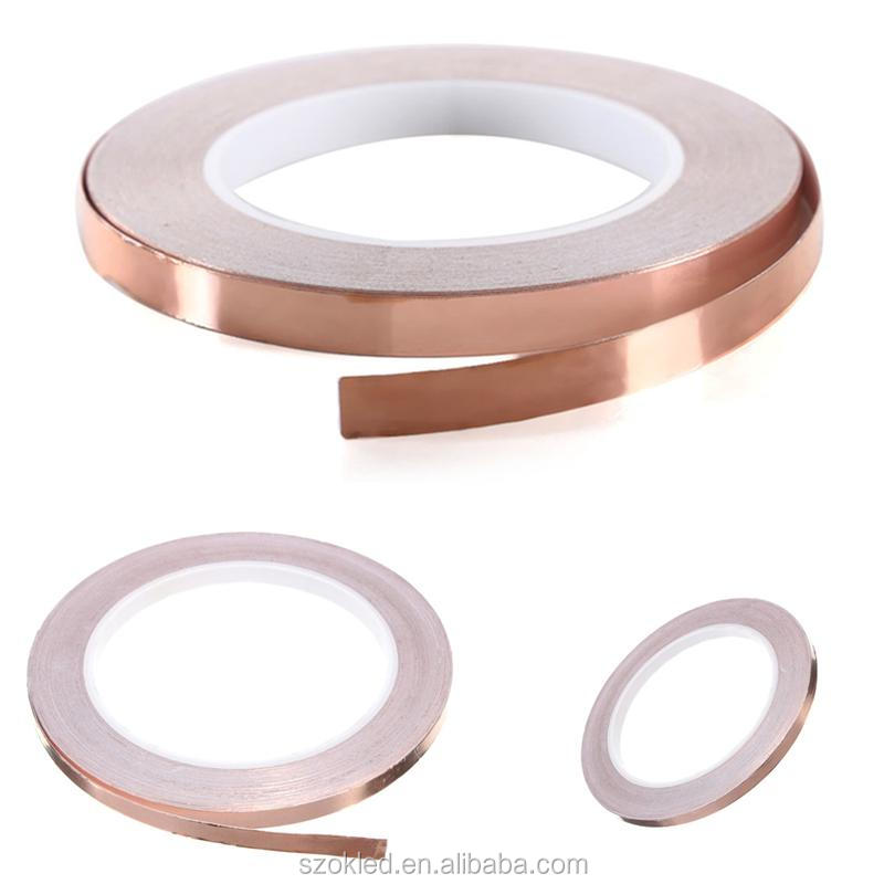 Single Face Adhesive Electric Conduction Copper Foil Tape EMI Shielding Guitar Slug And Snail Barrier 6mmx20m