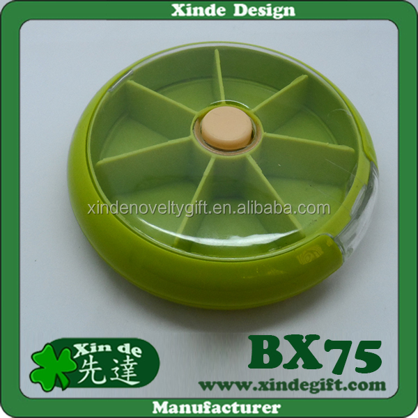 Round shaped design Weekly 7 Days Pill dispenser