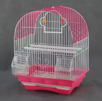 Bird Cage With Outside Feeder