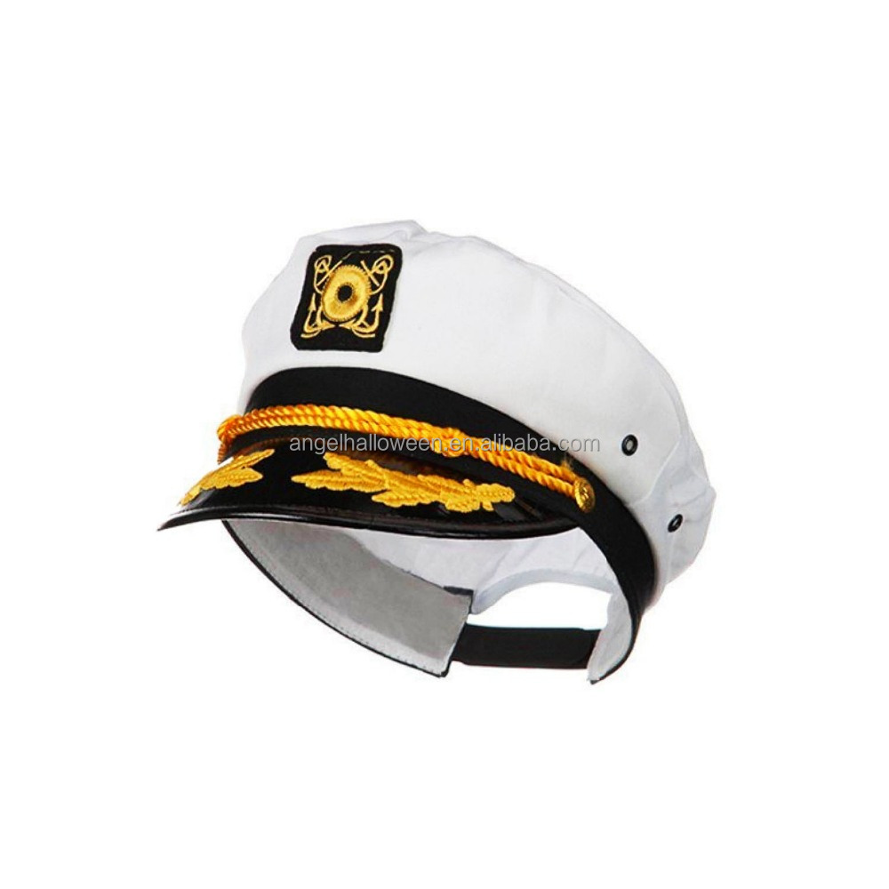 Adult yacht boat ship sailor captain costume hat cap navy Marine admiral hat NH2382