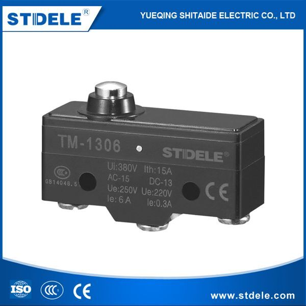 STDELE TM 1306 IP65 250VAC mini waterproof magnetic Short spring push button plunger on/off micro switch 12v (Z-15GD-B)