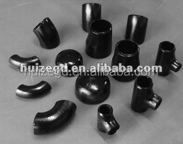 manufacture and supplier carbon steel bw pipe fitting/CS BW elbow tee cross reducer cap