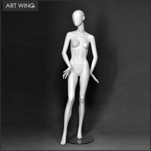 Matte white standing abstract female mannequin