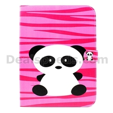 Cartoon Panda filp Stand PU Leather Case Cover for Samsung Galaxy Tab 3 10.1 P5200 P5210