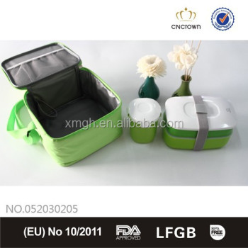 PP cup with the same clolr bento box and cooler bag