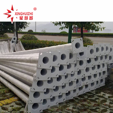 Hot sale 10 meters lighting pole hot dip galvanizing and plastic spraying pole