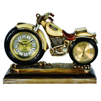 Antique table motorcycle clock 976