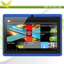 ZXS-Q88 Cheap 7 inch Allwinner Dual Camera Dual Core Q88 A23 Android Tablet PC for Kids with Good Quality