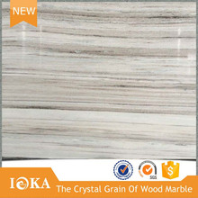 Crystal Wood Vein Marble Pieces For Building Decoration