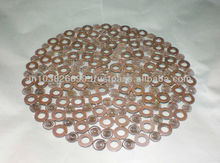 Copper Plated Handmade Metal Placemat