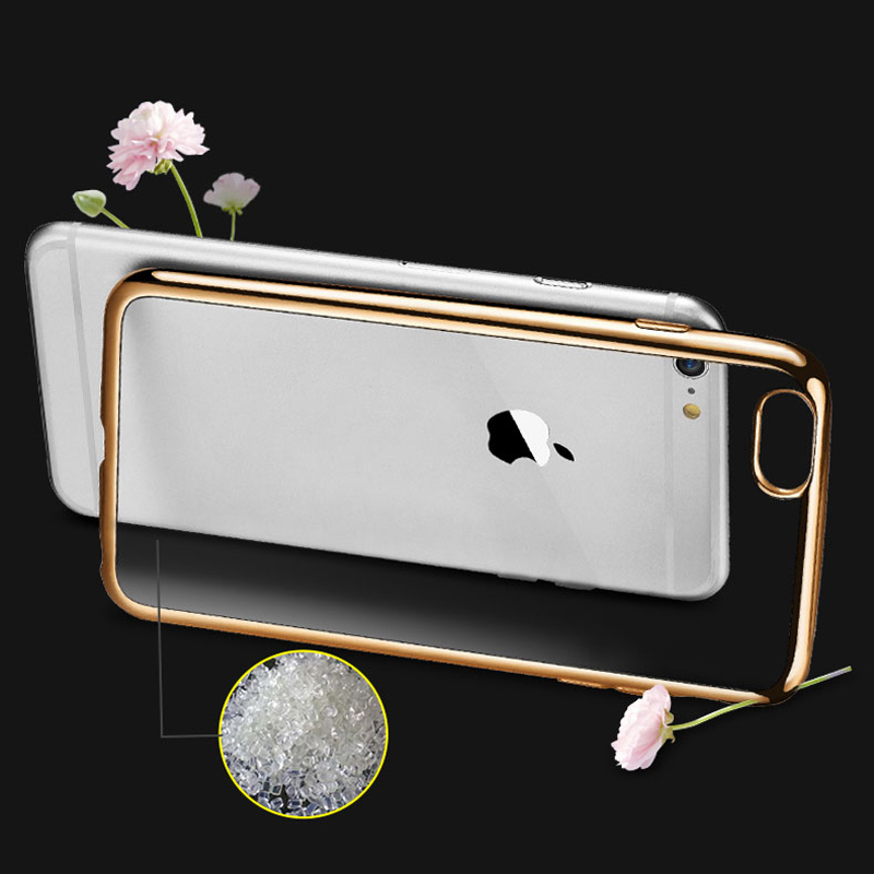 Very light Bumper TPU Electroplated Mobile Phone Case for Iphone 5 6 6s 6plus 7