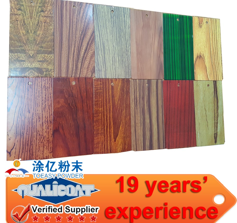 Polyurethane high quality anti corrosion wood grain texture PU thermal spray aluminum Powder Coatings