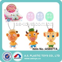 3 Style cartoon animal monkey/cow/elephant pull line toy