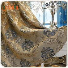 100% polyester jacquard luxury blackout living room curtains